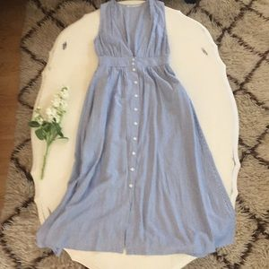 NWOT UO Kimichi Blue Striped Maxi Dress